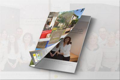 Création et réalisation graphique d'un Magazine pour l'agence immobliere Provence Home basée à Oppède près d'Avignon dans le Luberon-Vaucluse