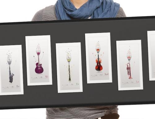 Cartes postales musicales et/ou Tableau – Cadeau original
