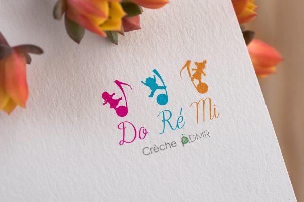 Création logo saint remy de provence et Avignon DOREMI Crèche ADMR