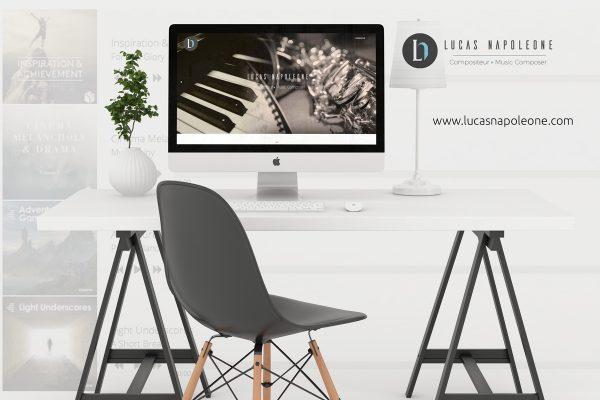 Site internet en responsive Lucas Napoleone basé à Avignon (Vaucluse)
