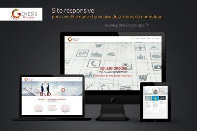 Réalisation graphique Site internet ESN - Rhône-Alpes - Lyon 69009