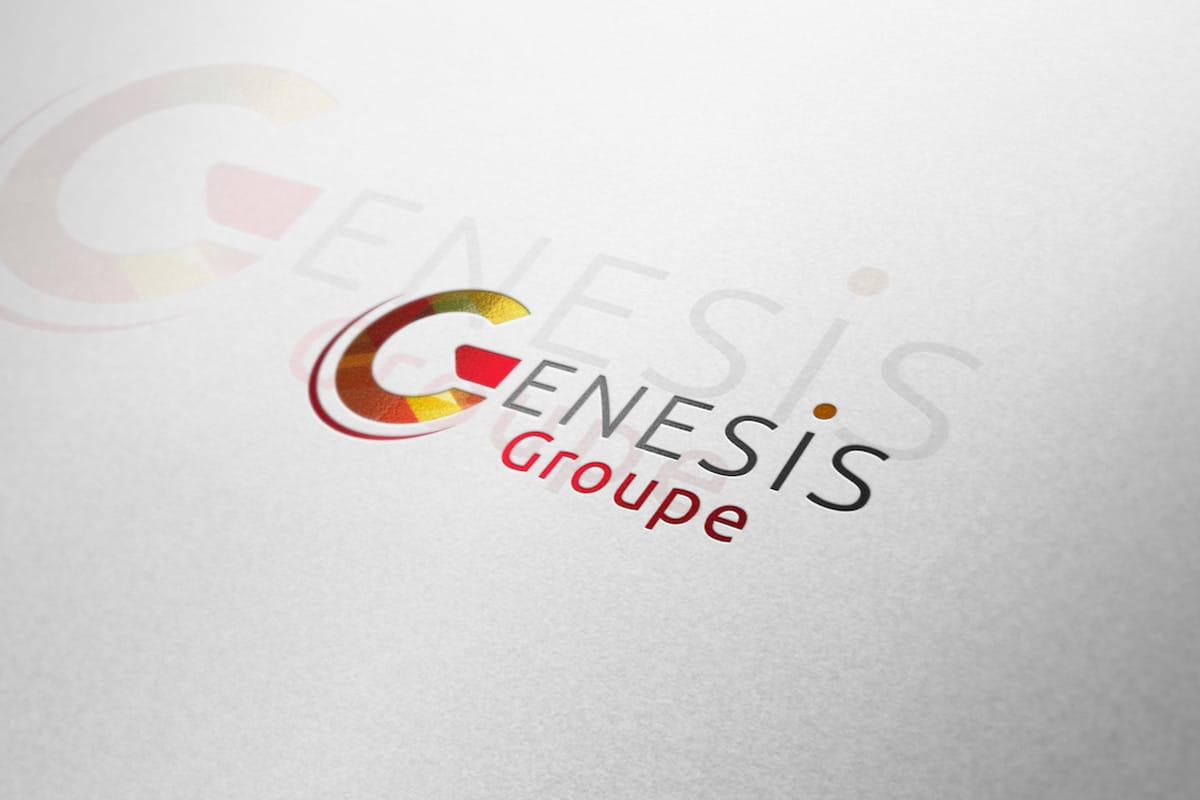 Réalisation graphique pour le logo Genesis Groupe - ESN située à Lyon